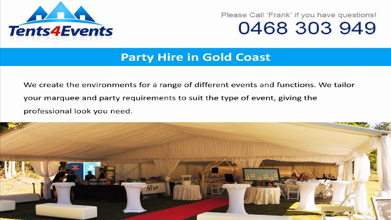 Tailored Party Hire in Gold Coast - Tents 4 Events