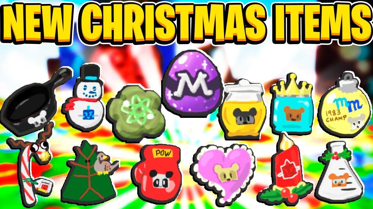 Christmas Update Items Leaked In Roblox Bee Swarm Simulator Youtube