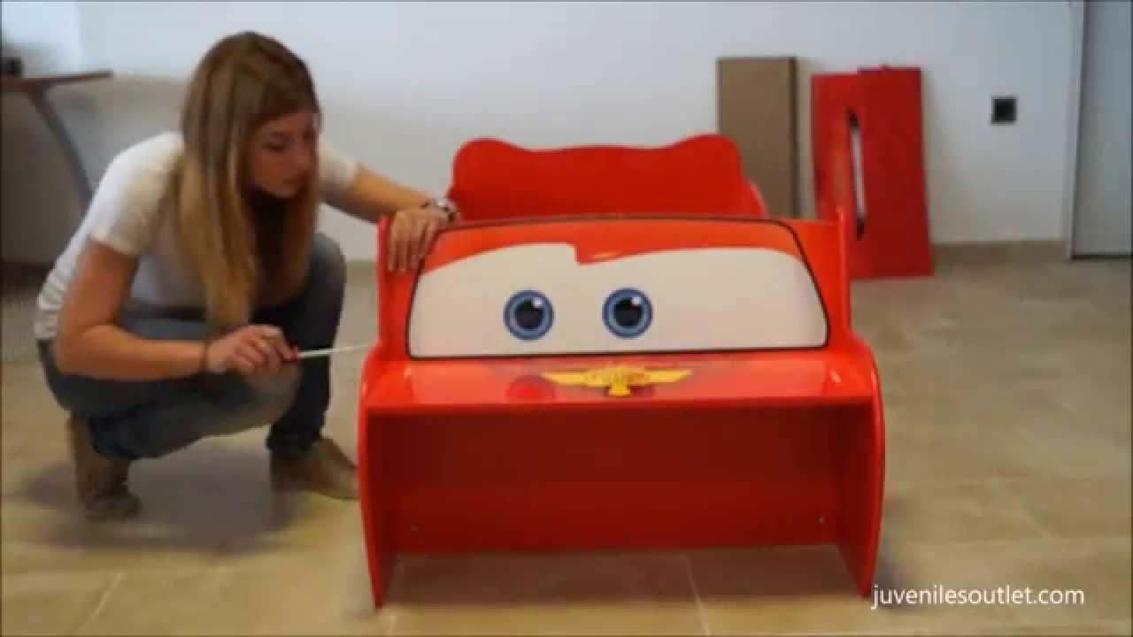 C mo montar la cama infantil coche cars disney en poco m s de 8 minutos youtube - Camas infantiles de cars ...