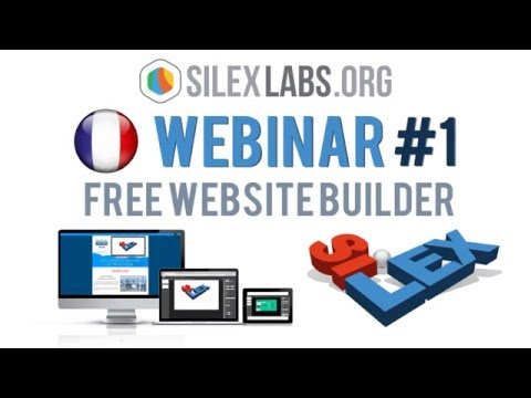 "Webinar #1 Silex (FR): ""Faire un site internet sans coder"""