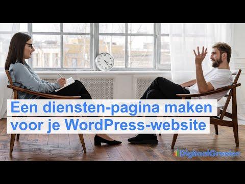 Een diensten-pagina toevoegen aan je WordPress-website