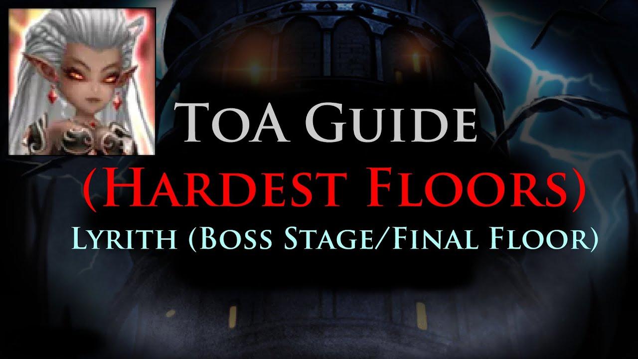 Summoners War Toa Hardest Floors Lyrith Stage 100
