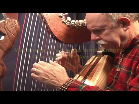 Blue Danube Waltz performed on solo harp by John Kovac, harpist and harp maker