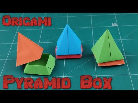 Origami 3D Pyramid Box | How To Make an Easy Paper Pyramid Box Tutorial | DIY Amazing Toy for Kids