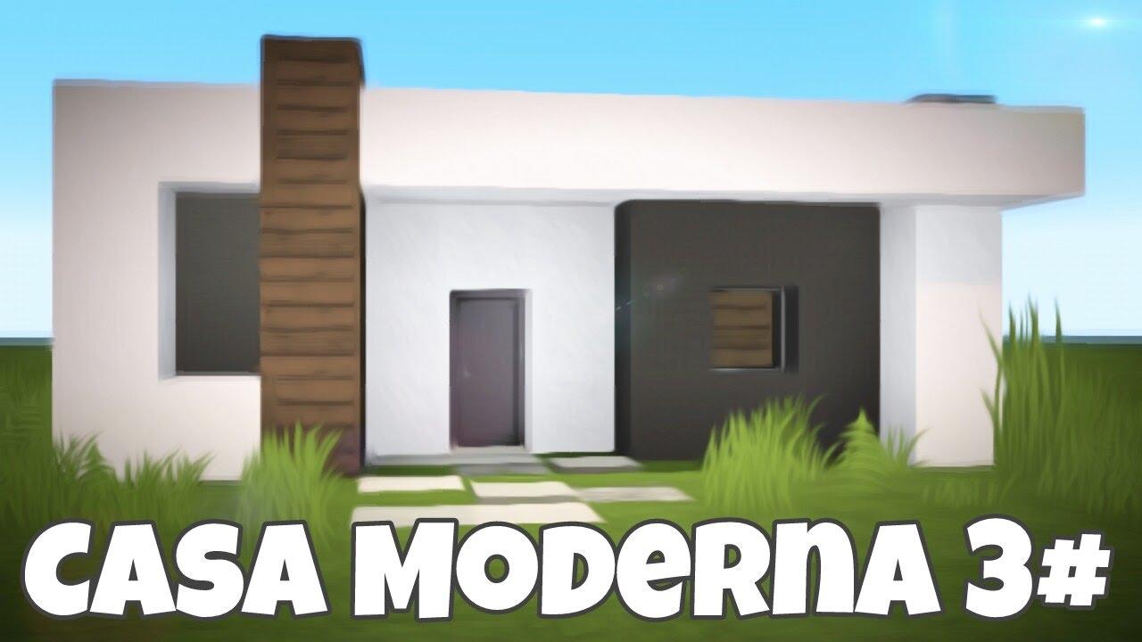 Minecraft pe como hacer una casa moderna facil y bonita for Casa moderna minecraft easy