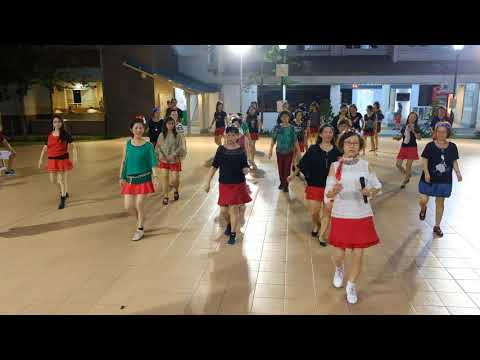 Cantonese Cha—Christmas Line Dance Party 9 Dec 2017 @ Tampines Changkat Zone 4 RC