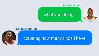 LeBron James Texting Michael Jordan
