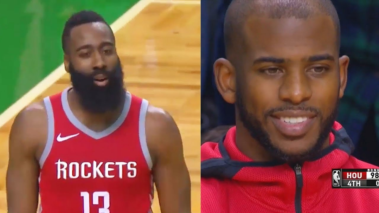 fa929b396a13 James Harden Completely Chokes vs Celtics - Gets Back to Back Offensive  Fouls! Celtics vs Rockets