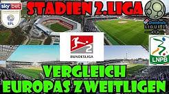 Die Stadien der 2.Liga + Zuschauer im VERGLEICH zu anderen ZWEITLIGEN aus EUROPA! DEU beste 2.Liga?