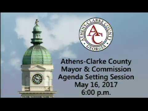05-16-2017 Agenda Setting Session