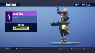 Fortnite new scarecrow skins and new dance VAI WITH BASSI!!!!
