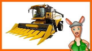 COMBINE HARVESTER: Farm machine videos for kids| children| toddlers. Kindergarten learning.