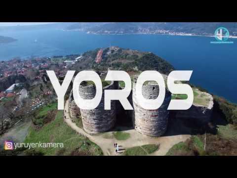 Yoros Kalesi , Anadolu Kavağı ,Drone Hava Çekimi, Yürüyen Kamera