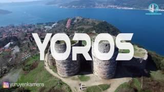 Yoros Kalesi , Anadolu Kavağı ,  Drone Hava Çekimi  , Yürüyen Kamera