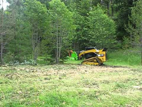 SS ECO Disc Mulcher in action equipped on a CAT299D2! - Advanced Forest  Equipment