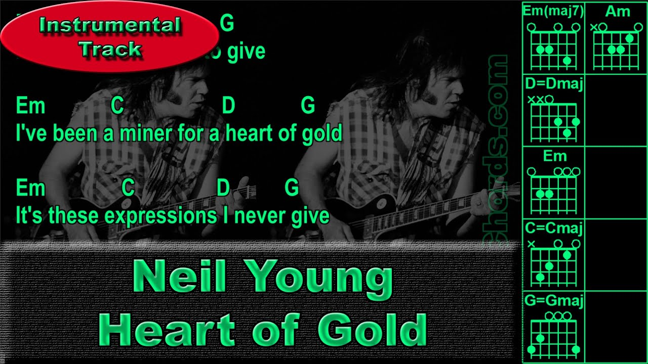 Neil Young Heart Of Gold Instrumental Guitar Chords 0016 B1