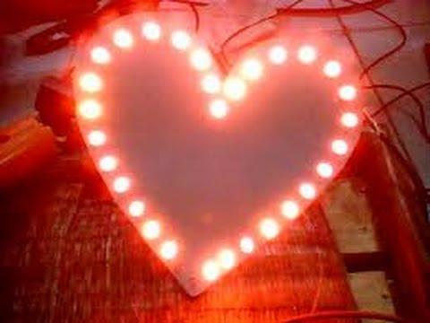 Làm mạch đèn LED hình trái tim đơn giản