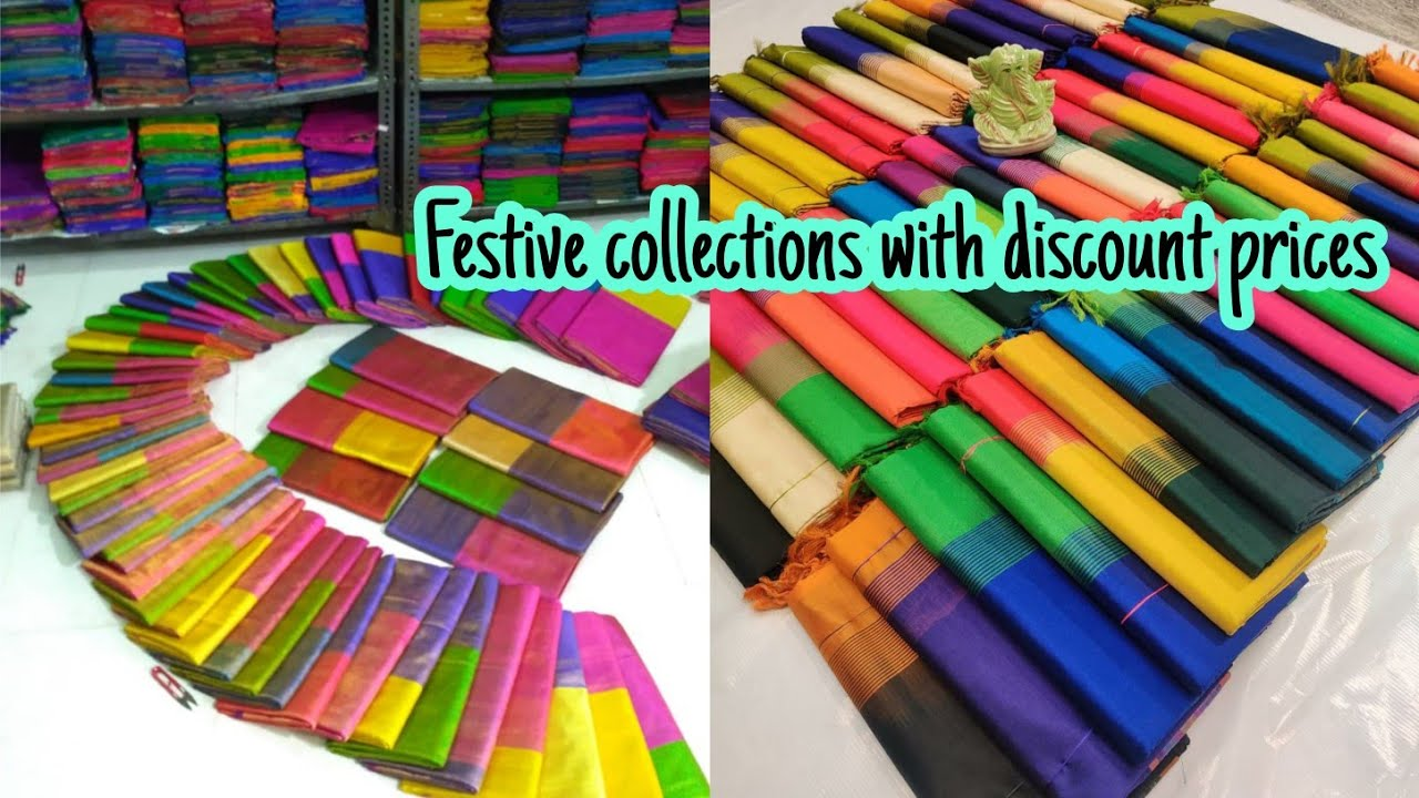 Latest festive saree collection with prices Singles New arrivals in uppada sarees Resellers welcome