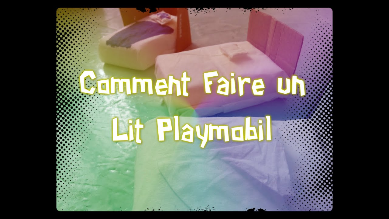 tuto faire un lit playmobil youtube. Black Bedroom Furniture Sets. Home Design Ideas