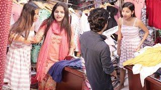 Annu Singh Cloth Shopkeeper prank | Cloth Selling Prank On Cute Girl | Hilarious Reaction | BRbhai