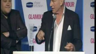 Awkward Awards - James Corden and Sir Patrick Stewart