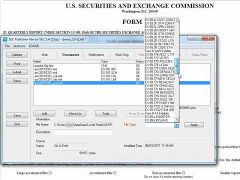 SmartXBRL: Filing XBRL to the SEC using SEC Publisher