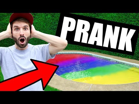 SLIME PRANK SUR CARL IS COOKING - JE COLORE LA PISCINE - HUBY