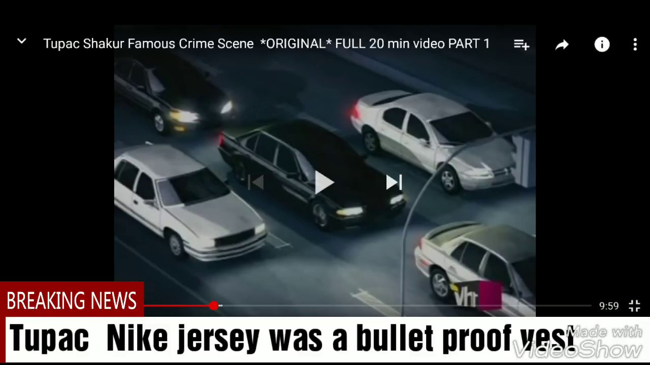 e8cc9475c6b Tupac Nike jersey was a bullet proof vest 1996 - YouTube