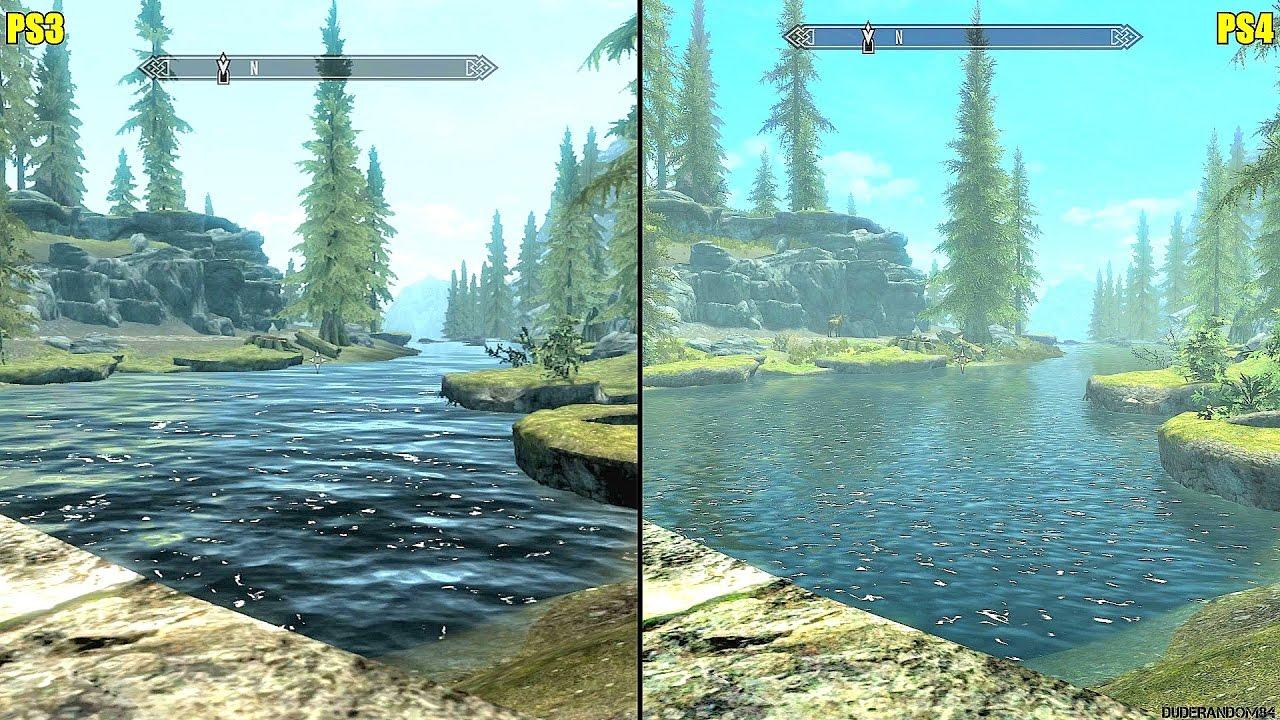 the elder scrolls skyrim ps4 vs ps3 graphics comparison youtube. Black Bedroom Furniture Sets. Home Design Ideas