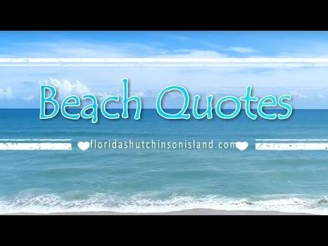 Beach Quotes  Inspirational Sayings with Beach and Ocean Waves HD
