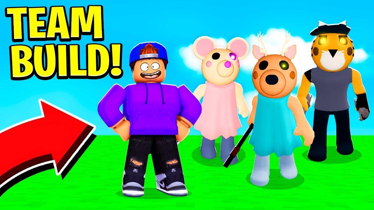 ROBLOX PIGGY BUT EVERYONE BUILDS THE MAP! (Piggy Build Mode)