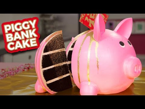 Piggy Bank CAKE  Happy LUNAR NEW YEAR  How To Cake It