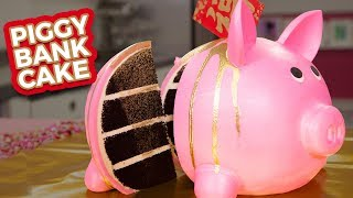 Piggy Bank CAKE!  Happy LUNAR NEW YEAR!  How To Cake It