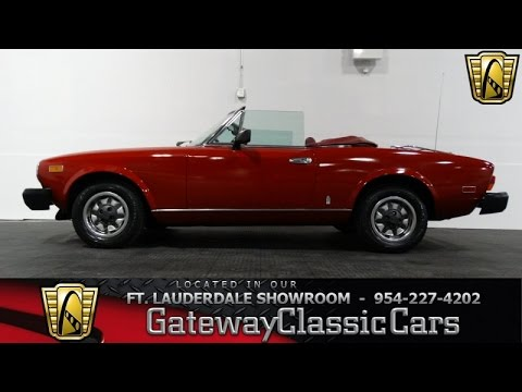 1980 Fiat 124 Gateway Classic Cars Of Fort Lauderdale Stock 160 Youtube