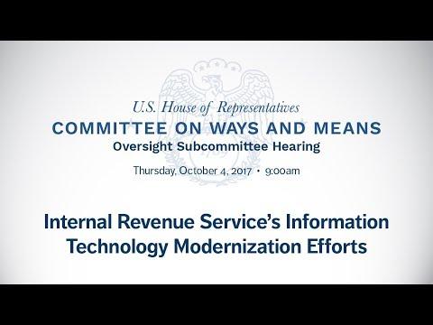 Hearing on the Internal Revenue Service's Information Technology Modernization Efforts