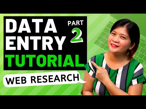 DATA ENTRY TUTORIAL FOR BEGINNERS   ONLINE DATA ENTRY JOB - WEB RESEARCH  (HOW TO)  2ND PART