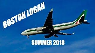 Boston Logan Summer 2018 Plane Spotting