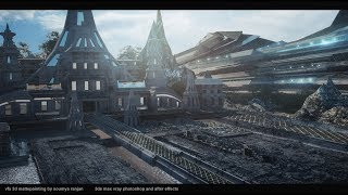 matte painting tutorial 3ds max and photoshop sci fi sacred place
