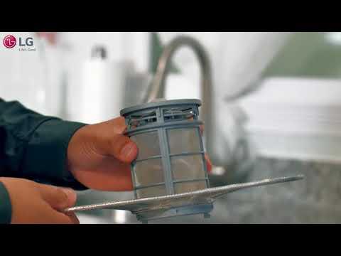 LG Dishwasher- Filter cleaning - غسالة الصحون من إل جي – تنظيف الفلتر