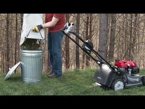 HRX217 K6 VLA Lawn Mower Operation