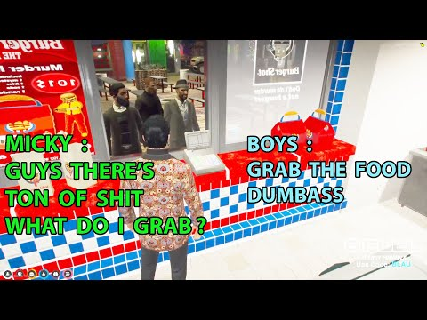 Micky Went THROUGH WALL And Robs BURGER SHOT FOOD | NoPixel GTA RP