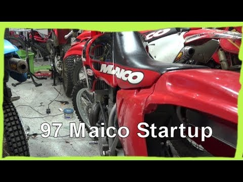 Dirtbike Garage: S1 E17 Starting up the 1997 Maico 500 Again!