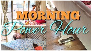 MORNING POWER HOUR Speed CLEANING Routine | Daily routine Mom of Two