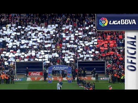 Las gradas del Calderón en el derbi madrileño