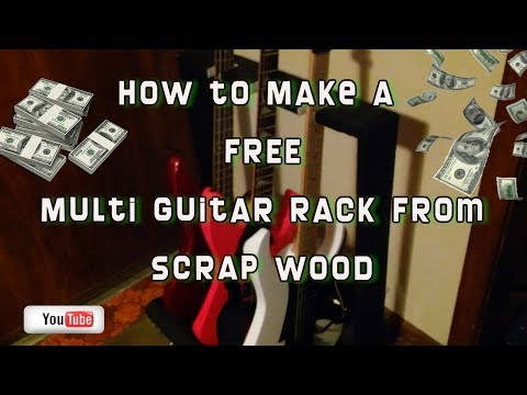 How to Make a FREE Multi Guitar Stand Rack from SCRAP WOOD