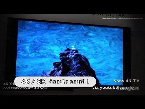 4K หรือ 8K  คืออะไร สำหรับทีวีในอนาคต ตอนที่ 1