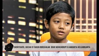 ENDRIYANYO, Bocah 9 Tahun Berjualan Menghidupi 8 Anggota Keluarga | HITAM PUTIH (09/10/19) Part 1