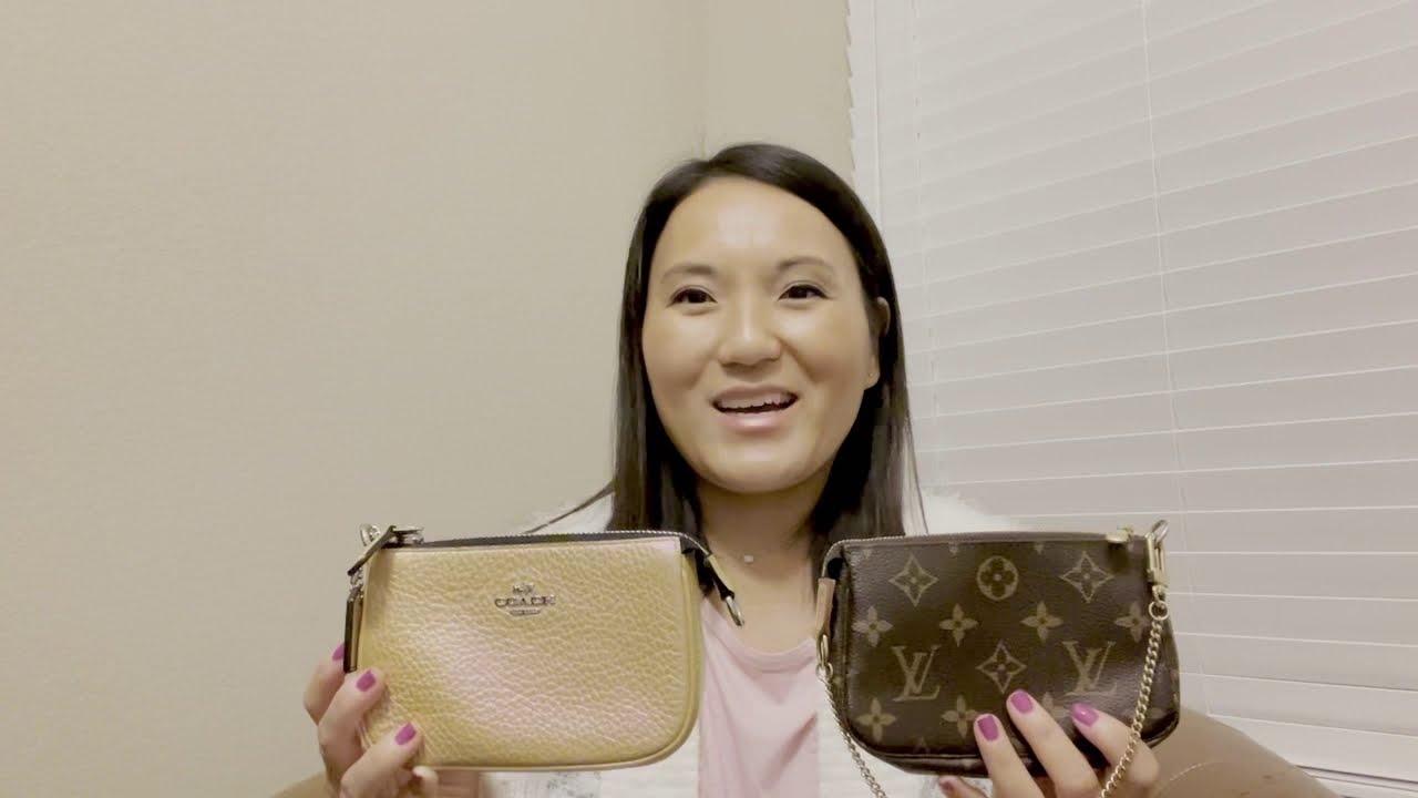 Comparison: Louis Vuitton Mini Pochette vs. Coach Nolita 15