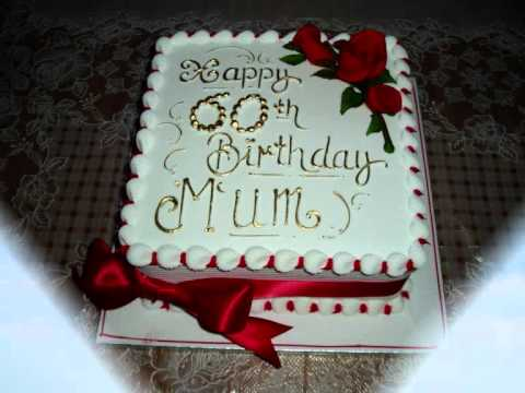 Beautiful Happy 60th Birthday Cake Ich Liebe Dich Mother