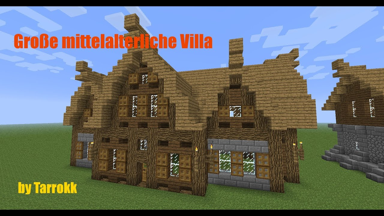 minecraft gro e mittelalterliche villa tutorial youtube. Black Bedroom Furniture Sets. Home Design Ideas
